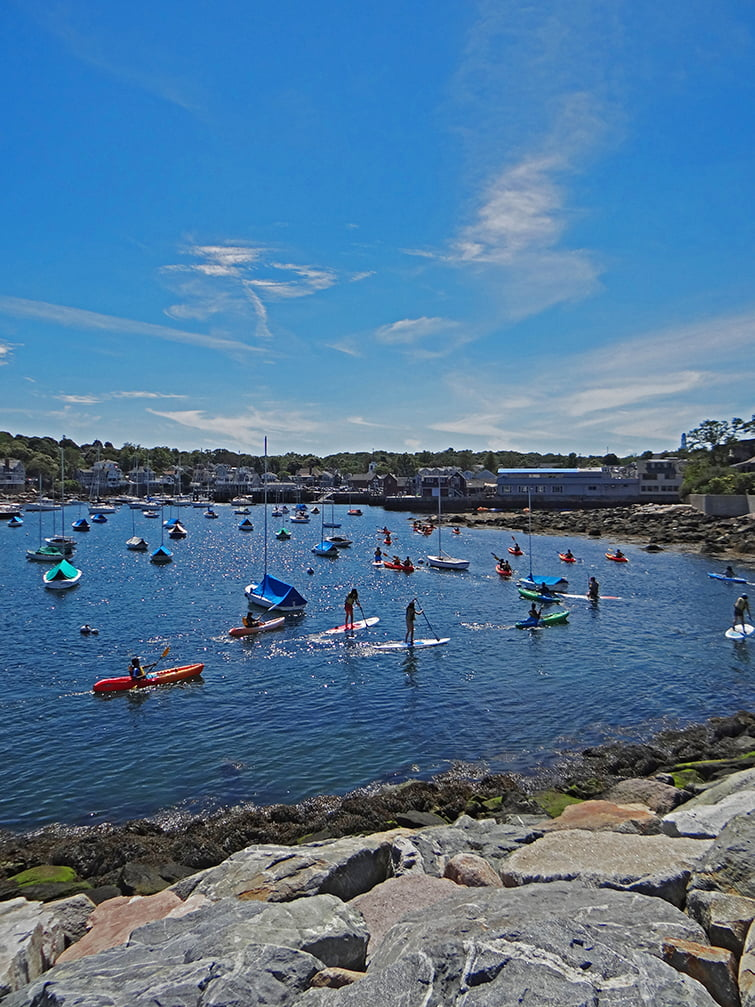 kayaking Rockport, MA