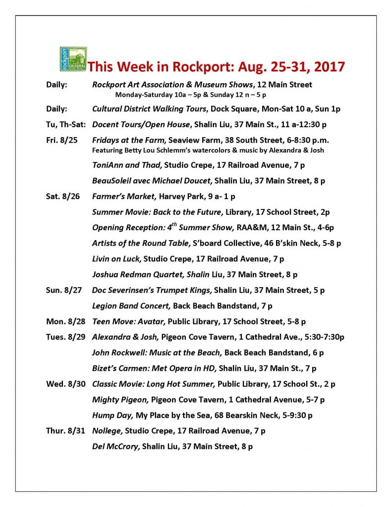 This week in Rockport